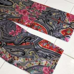 Accessories - Paisley and floral scarf